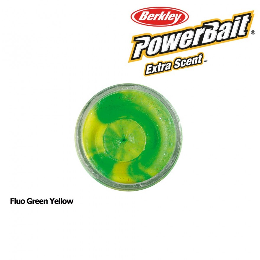 Berkley Powerbait Select Glitter Trout Bait Fluo Green Yellow