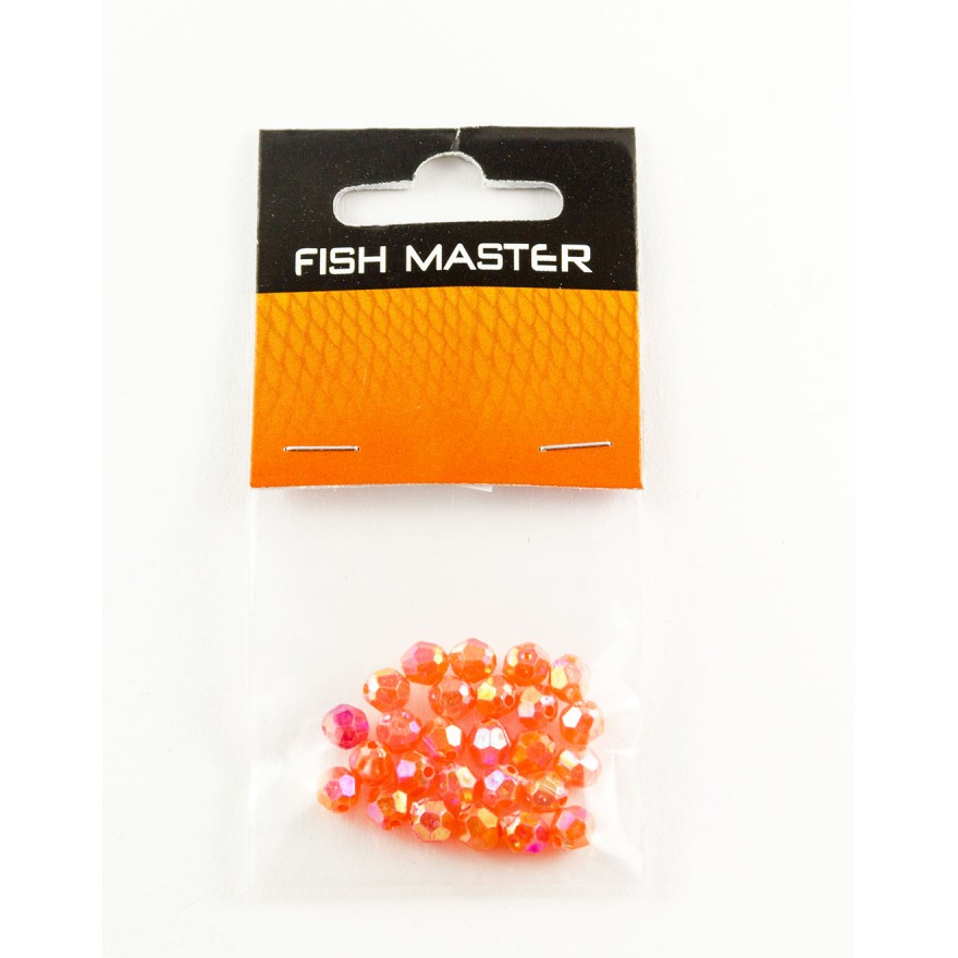 Fish Master Fancy Beads 6mm Multi-Colour gelb