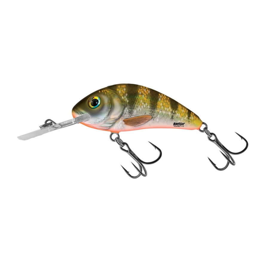Salmo Rattlin Hornet Floating Yellow Holo Perch