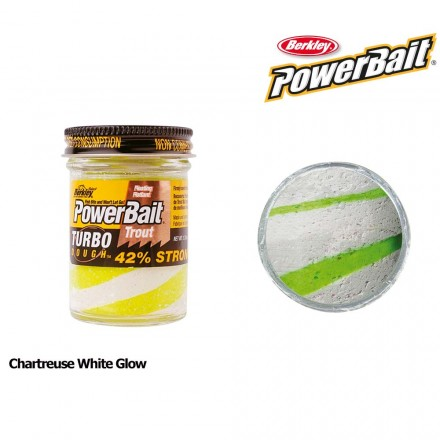 Berkley Powerbait Glow in the Dark Chartreuse White Glow