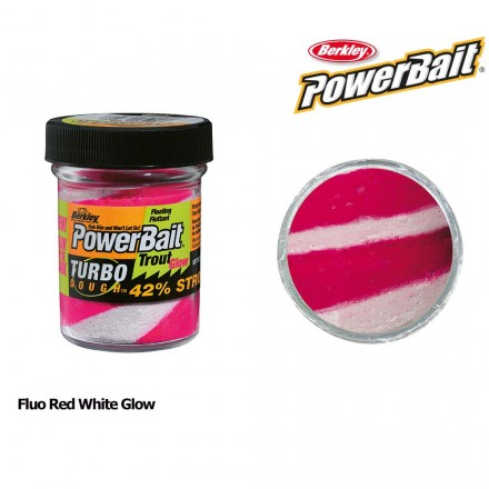 Berkley Powerbait Glow in the Dark Fluo Red White Glow