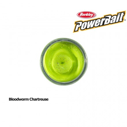 Berkley Powerbait Natural Scent Bloodworm Chartreuse