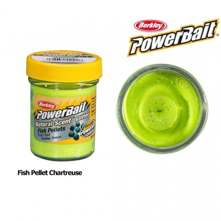 Berkley Powerbait Natural Scent Fish Pellet Chartreuse