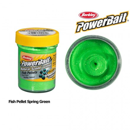 Berkley Powerbait Natural Scent Fish Pellet Spring Green