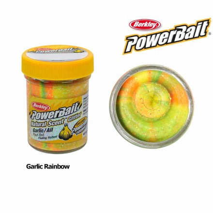 Berkley Powerbait Natural Scent Garlic Rainbow