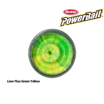 Berkley Powerbait Natural Scent Liver Fluo Green Yellow