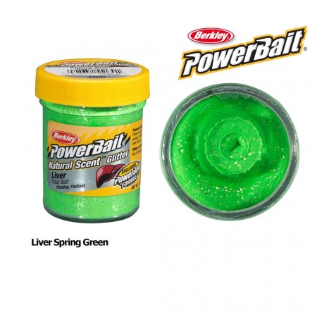Berkley Powerbait Natural Scent Liver Spring Green