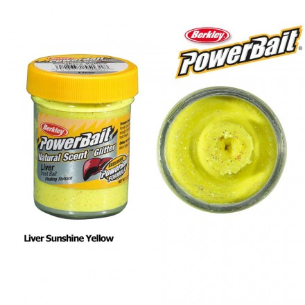 Berkley Powerbait Natural Scent Liver Sunshine Yellow