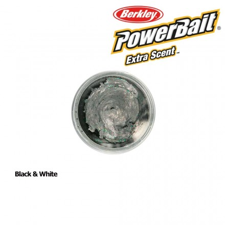 Berkley Powerbait Select Glitter Trout Bait Black & White