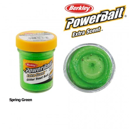 Berkley Powerbait Select Glitter Trout Bait Spring Green