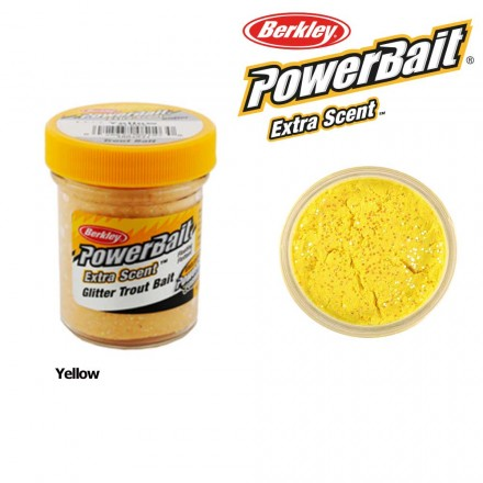 Berkley Powerbait Select Glitter Trout Bait Yellow