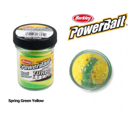 Berkley Powerbait Select Glitter Turbo Dough Spring Green Yellow