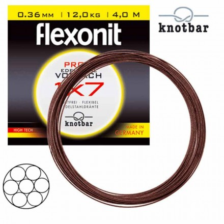 Cebbra Flexonit 1x7 4m 0,24mm 5,3Kg Stahlvorfach
