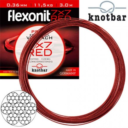 Cebbra Flexonit 7x7 Red 3m 0,27mm 6,8Kg
