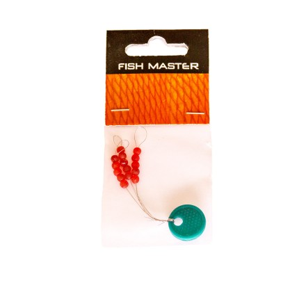 Fish Master Silikonstopper rund Fluo-Red 3mm