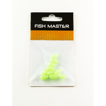 Fish Master Soft Silikon Fluo-Perlen oval 12mm